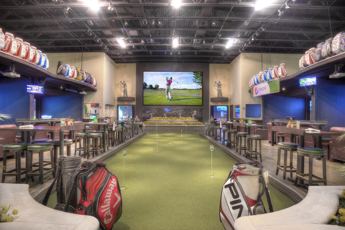 Man Cave Golf Simulator : Man cave full swing golf simulator traditional home theater