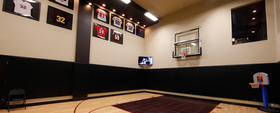 Game-Changing Automation for a Former NFL Player: man cave, sports, sports bar,