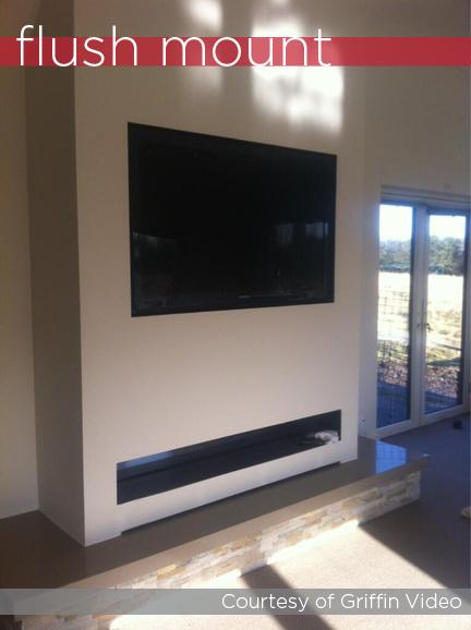 Control4 flush mount television mount