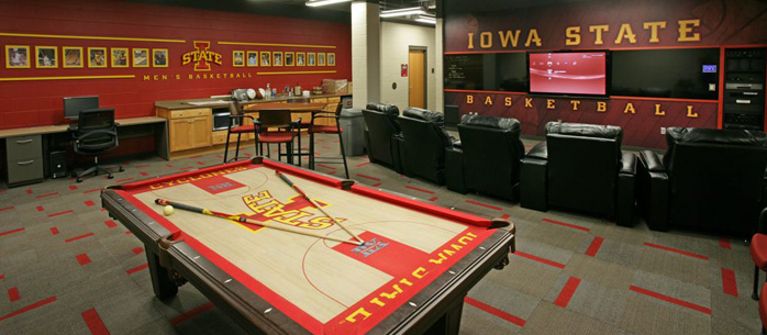 Iowa State basketball Practice Facility with Control4 Automation