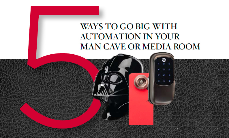 5 Ways to GO BIG with Automation in Your Man Cave or Media Room: audio/video, home theater, man cave,