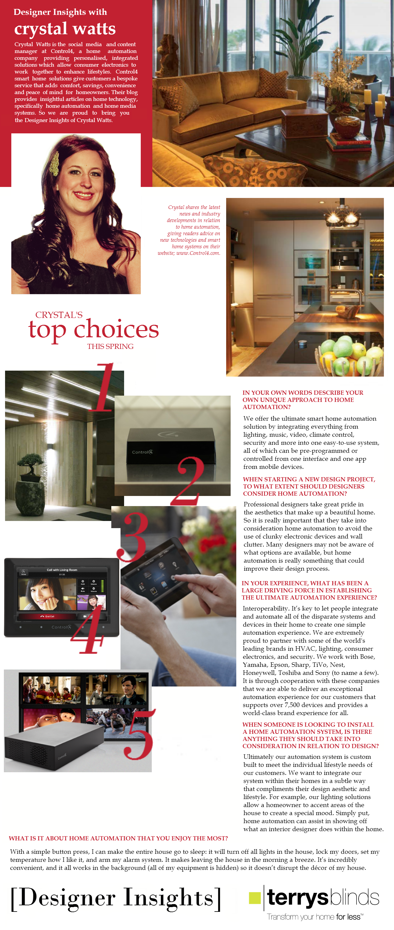 Designer Insights How Home Automation Can Benefit The Interior - Interior design home automation