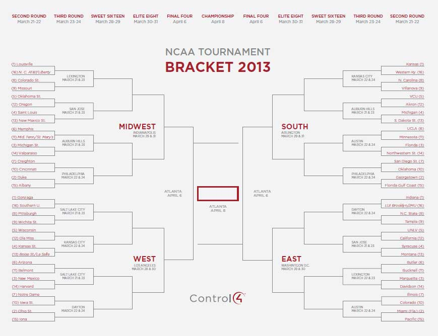 Printable March Madness Brackets!: