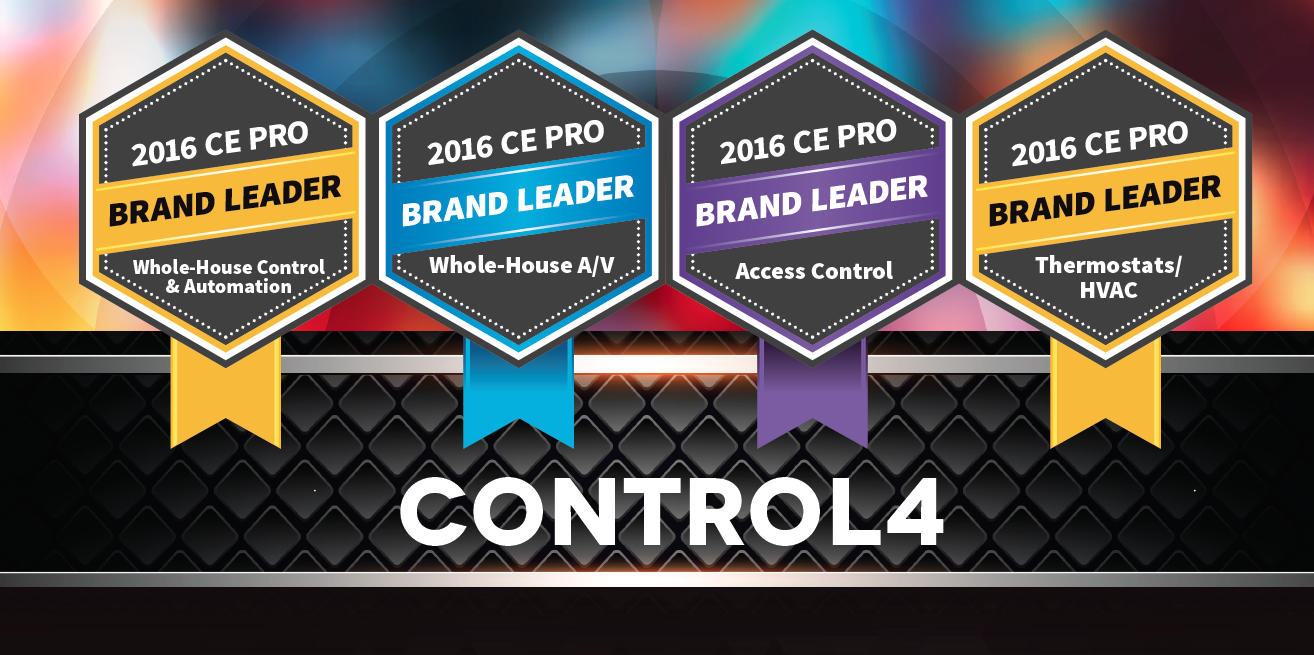 Control4 Named Top Home Automation Provider for 2016: awards, ce pro awards, home automation, industry,