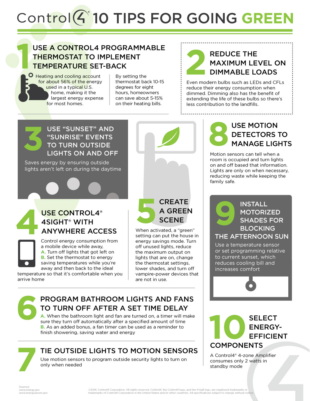 Tips for energy management infographic home automation for Ways you can save energy