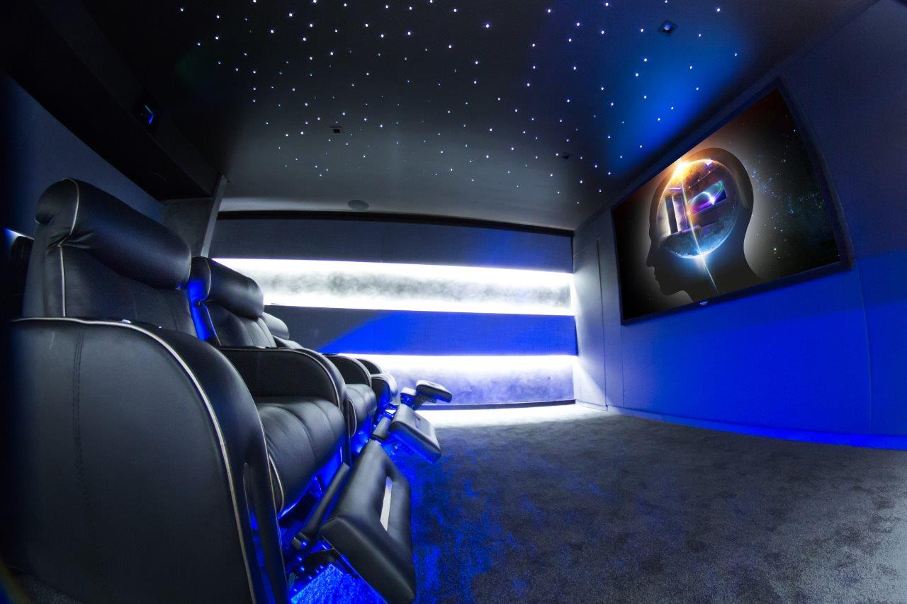The New Frontier in Cinema: An Immersive Home Theater: 4k, home theater, man cave, media distribution,