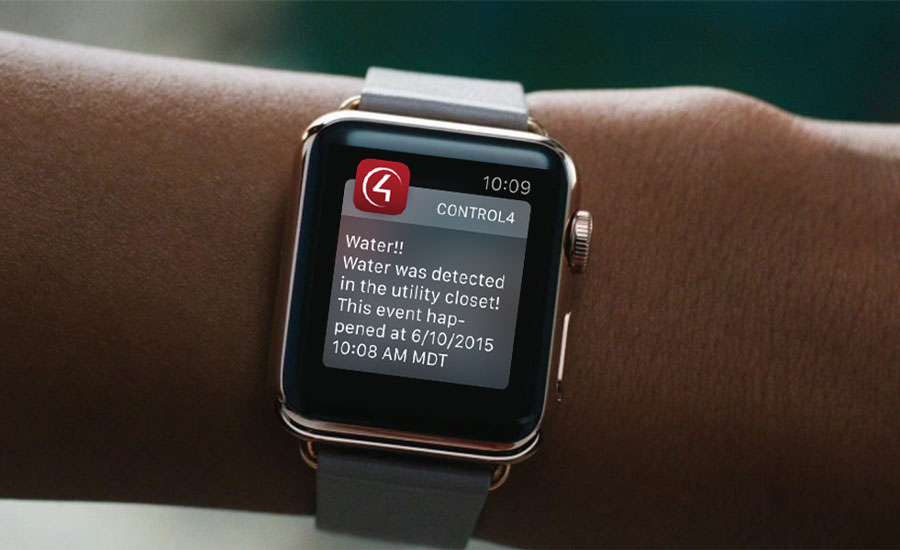 Control4 iWatch Interface