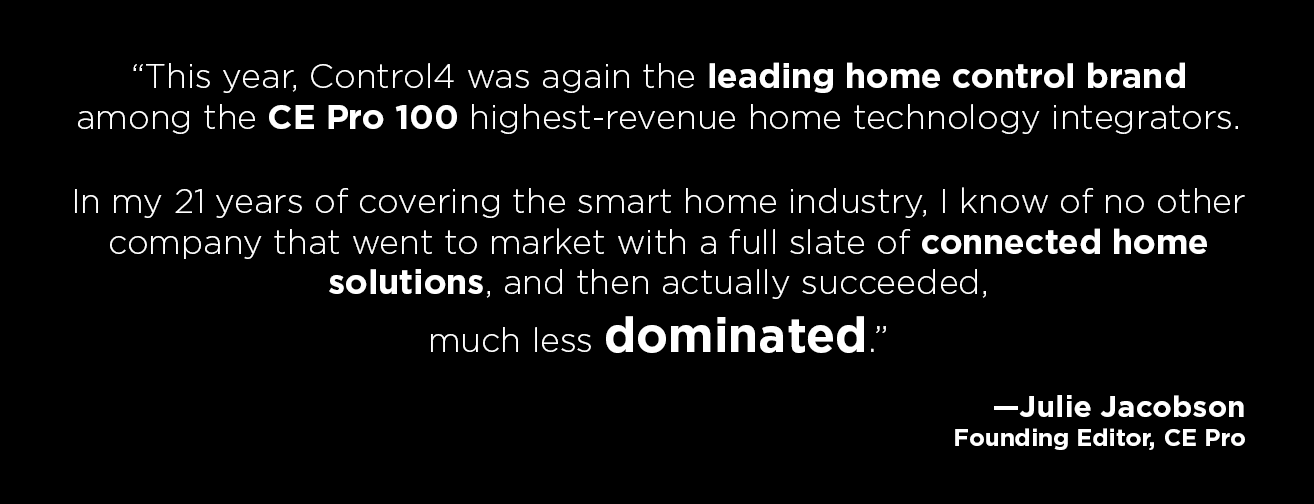 Top Home Automation control4 named top home automation provider for 2016 | home