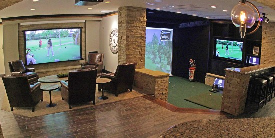 Image result for golf simulator home theater