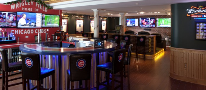 The Ultimate  Automated Man Cave for the Sports Enthusiast. Sports Man Cave. Home Design Ideas