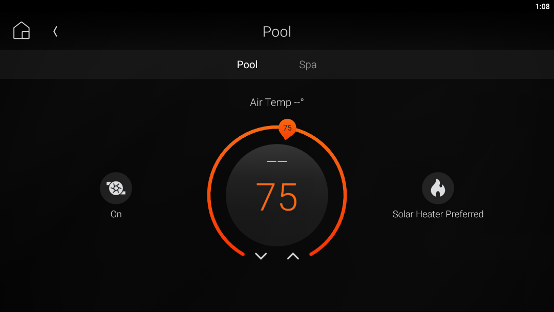 Controlling your pool and spa