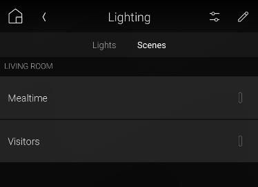 Using Lighting Scenes